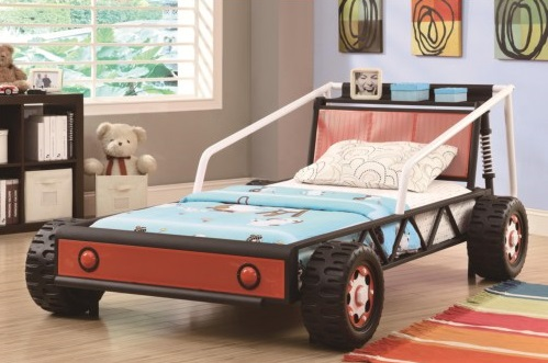 Twin Size Race Car Bed - Coaster Furniture Closeouts in Pittsburgh