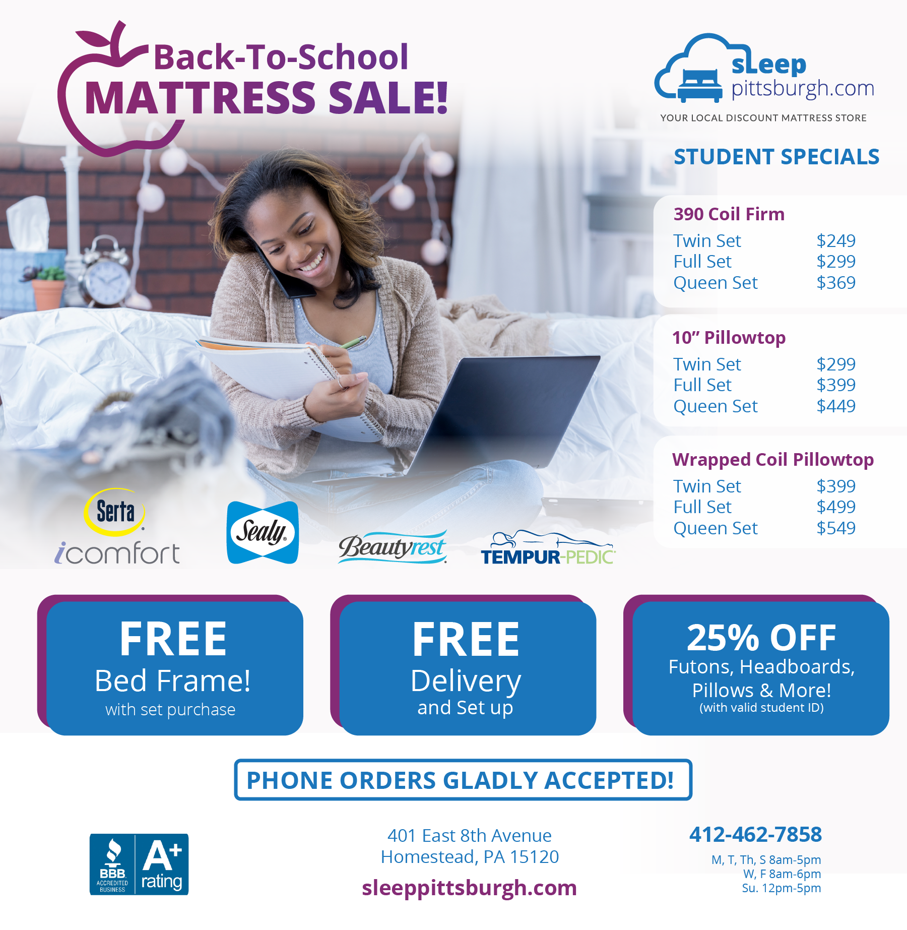 Back to School Mattress Sale