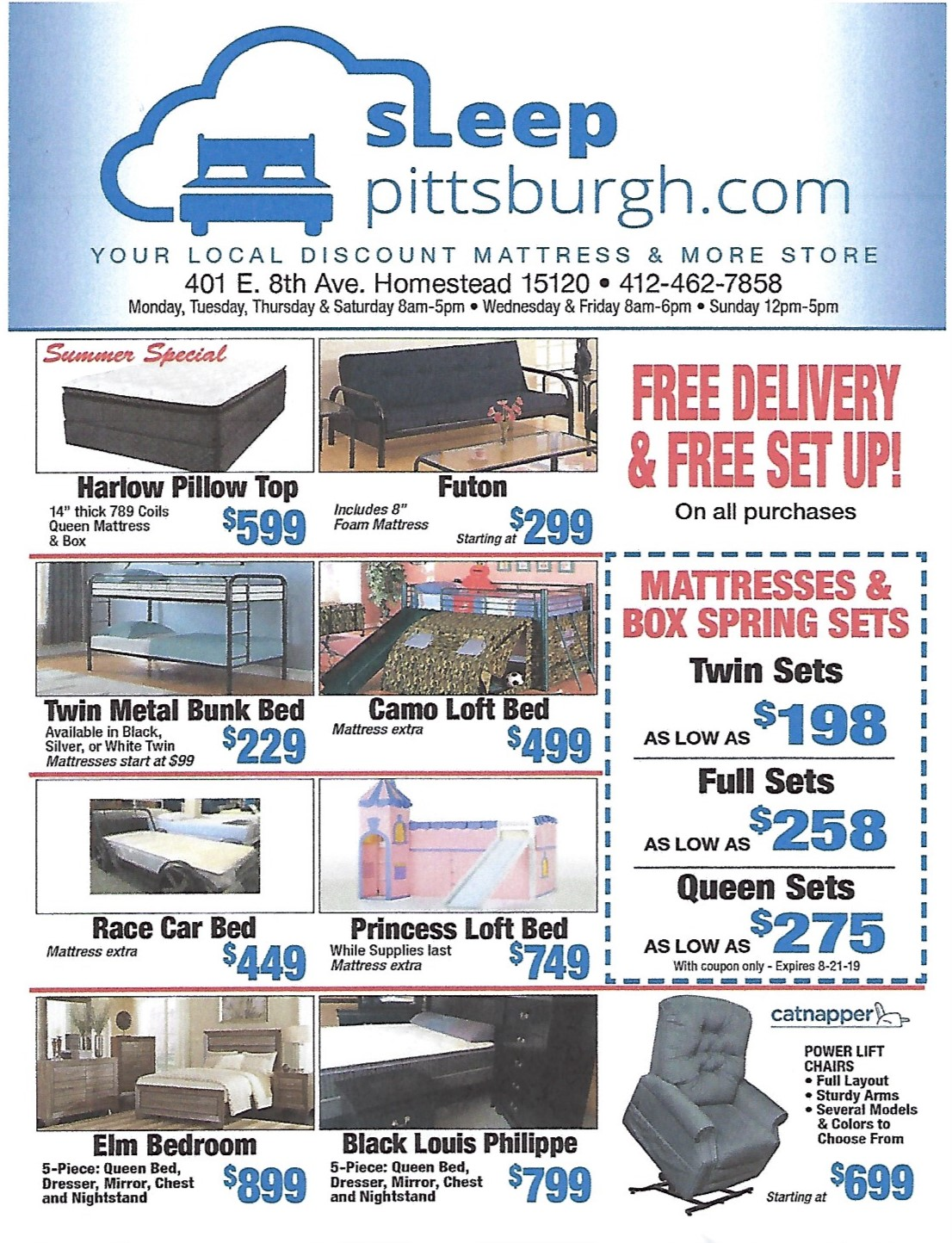 July 2019 Mattress and Bunk Bed Sale