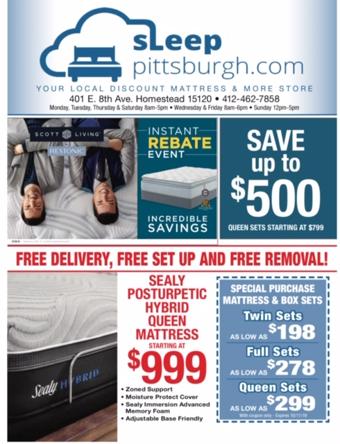 Sleep Pittsburgh Mattress Sale September 2019