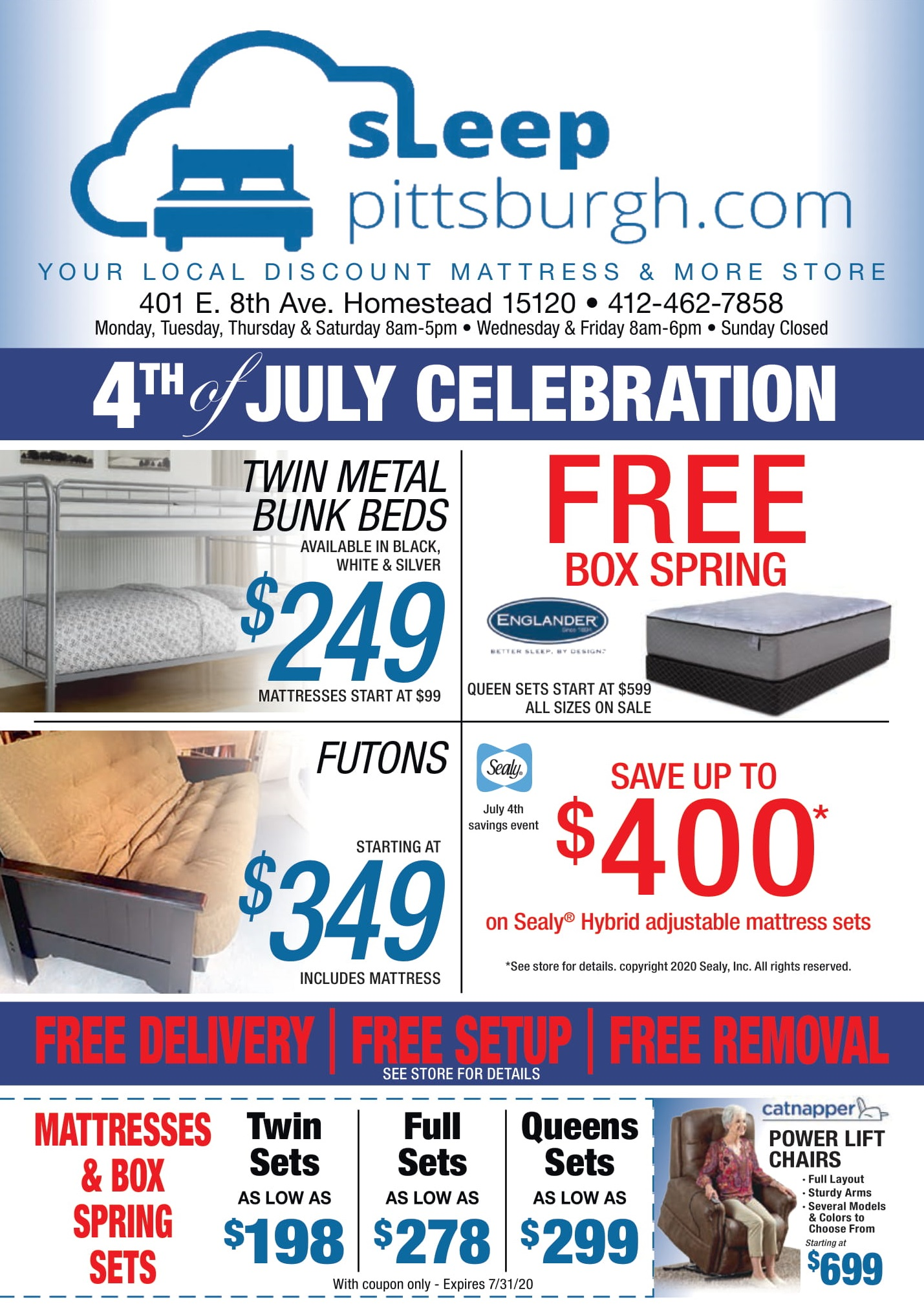 july 4 mattress sale pittsburgh